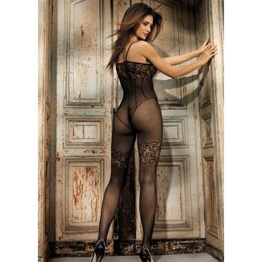 sexy bodystocking semi-trasparente a rete calza corpo