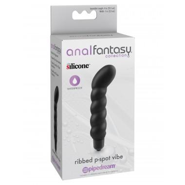 vibratore massaggiatore per prostata punto P Ribbed P-Spot Vibe silicone