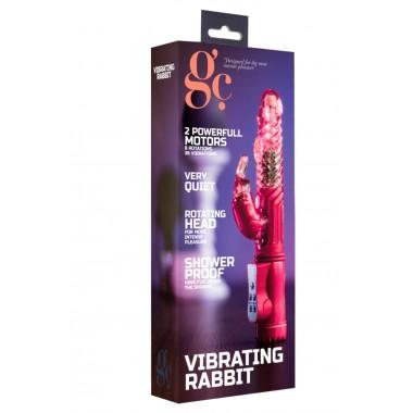 vibratore rabbit rotante dildo realistico doppio vaginale stimolatore clitoride