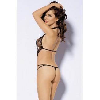 body nero donna completo completino intimo sexy lingerie