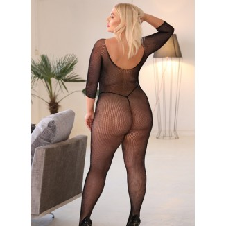 catsuit a rete bodystocking taglia unica XL Queen
