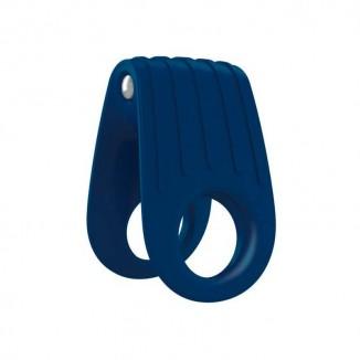 anello fallico per uomo vibrante B12 Blu