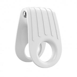 anello fallico vibrante ovo b12 white in silicone
