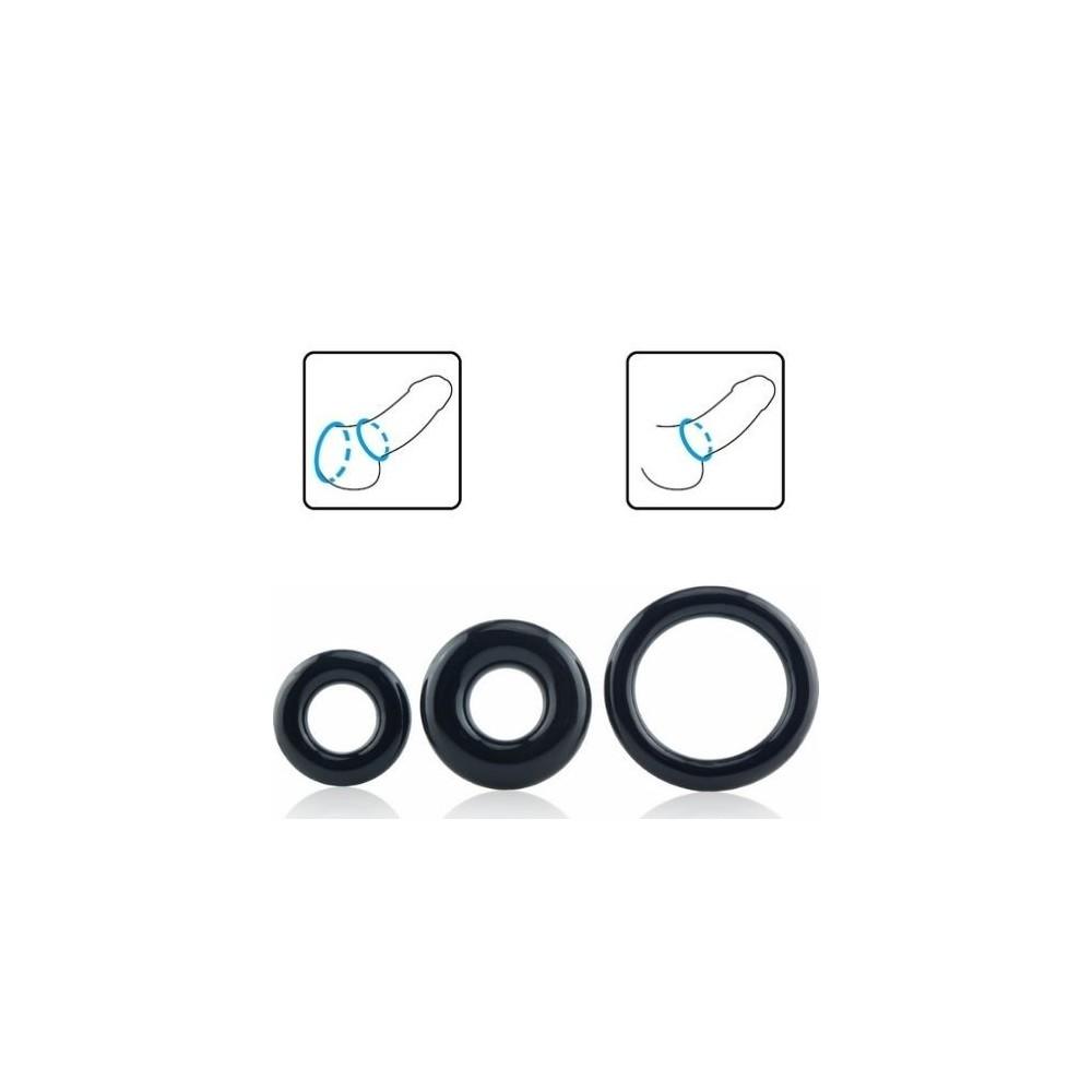anelli fallici in silicone ritardante pene ScreamingO