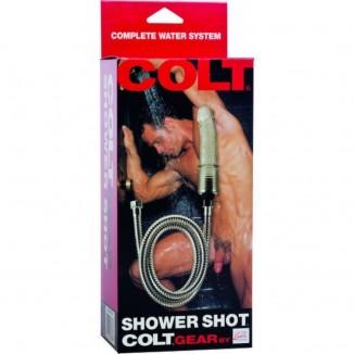 sistema di pulizia dildo realistico con doccia