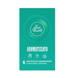 profilattici condom aromatizzati vari gusti Love Match