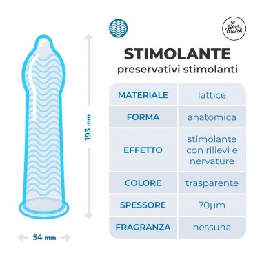 condom Love Match Stimolanti 193 mm x 54 mm