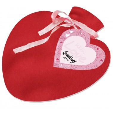 borsa acqua calda cuore rosso in caucciù e pile di Teese&Please