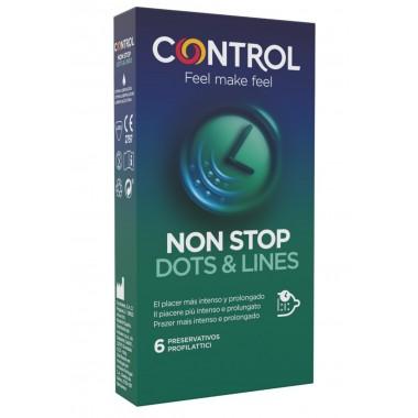 preservativi condom ritardanti profilattici Control Non Stop 6pz